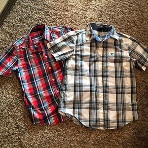 Wrangler button down shirts, boys size L 10/12